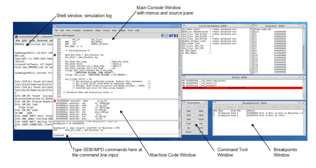 graphic: OVP iGui debugger GUI...