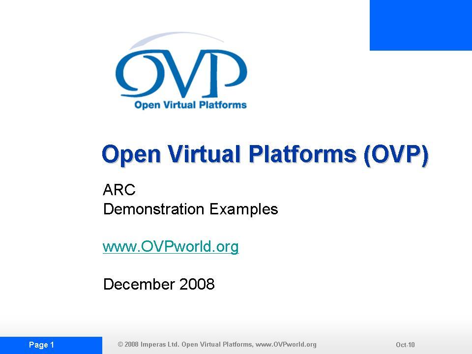 OVP ARCDEMO1 Slide Show