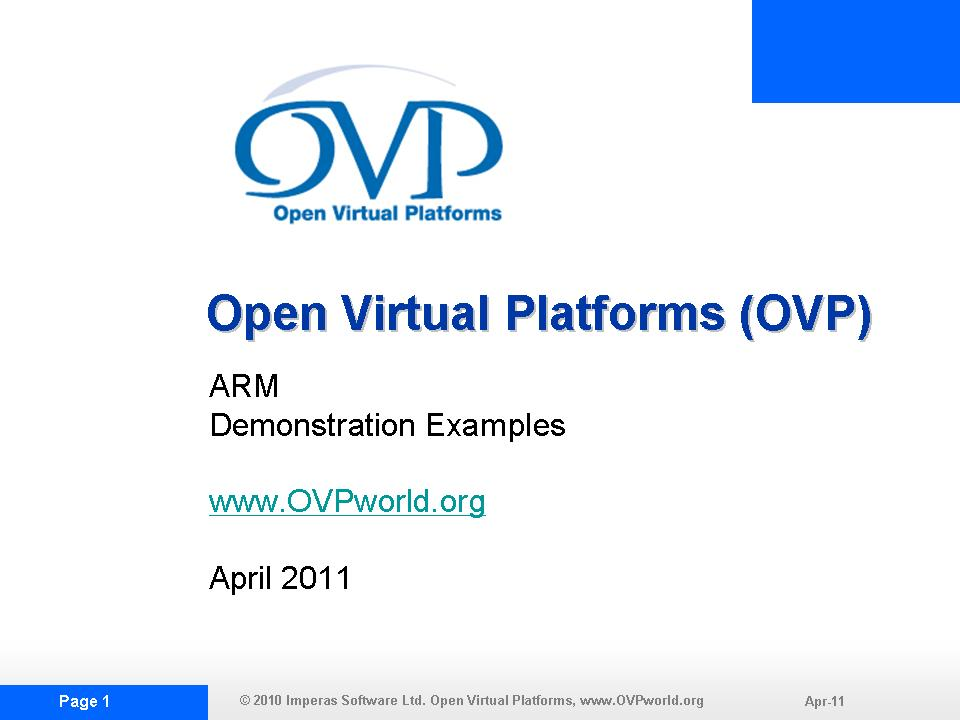 OVP ARMDEMO1 Slide Show