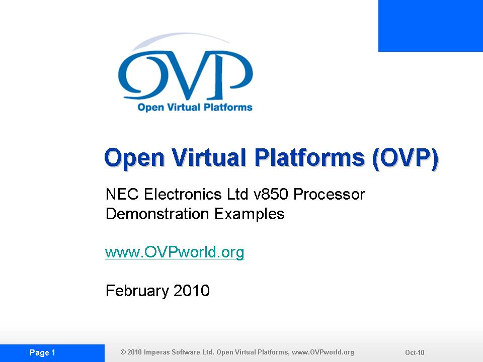 OVP NECDEMO1 Slide Show