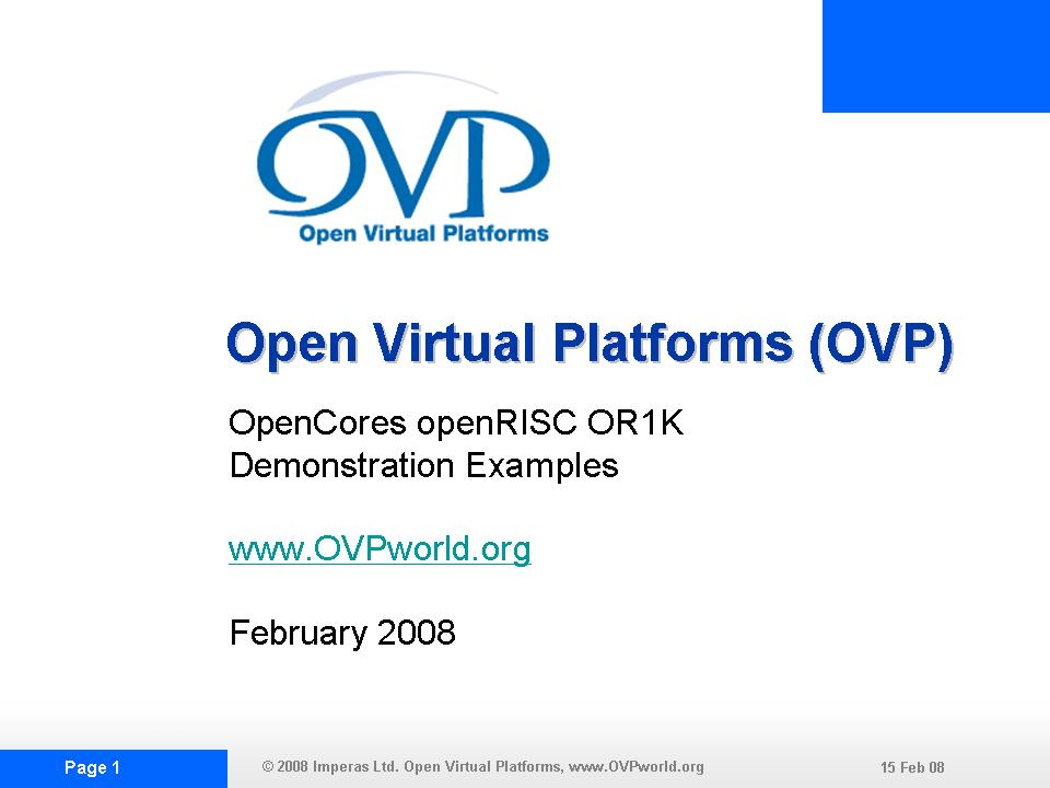 OVP OR1KDEMO1 Slide Show