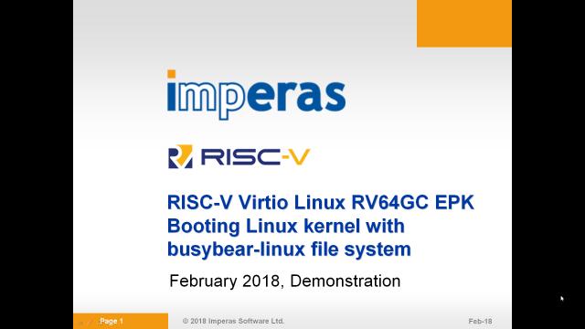 OVP VirtioRV64GCLinux Video
