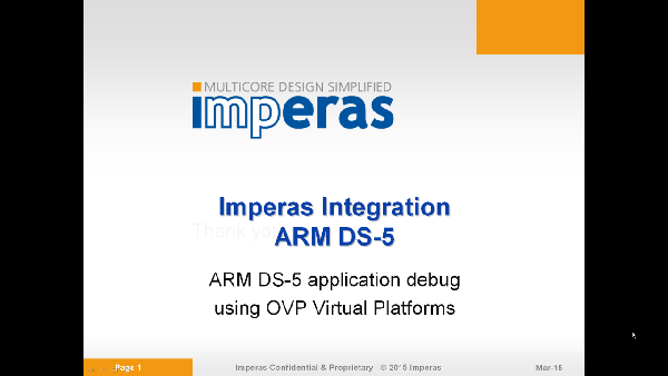 OVP arm_ds_5 Video