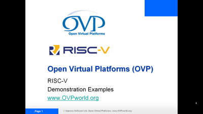 OVP riscvdemo1 Video